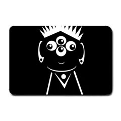 Black and white voodoo man Small Doormat