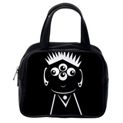 Black and white voodoo man Classic Handbags (One Side)