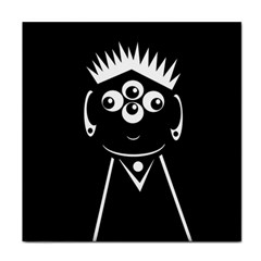 Black and white voodoo man Face Towel