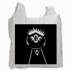 Black and white voodoo man Recycle Bag (Two Side)