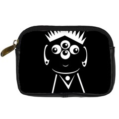Black and white voodoo man Digital Camera Cases