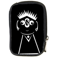 Black and white voodoo man Compact Camera Cases