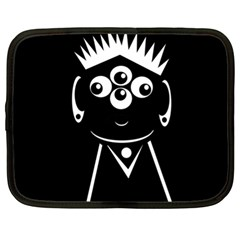 Black and white voodoo man Netbook Case (XL)