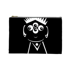 Black and white voodoo man Cosmetic Bag (Large)