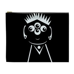 Black and white voodoo man Cosmetic Bag (XL)
