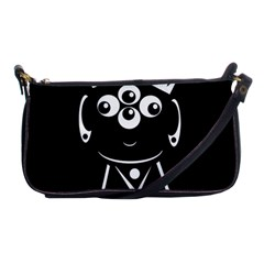 Black and white voodoo man Shoulder Clutch Bags