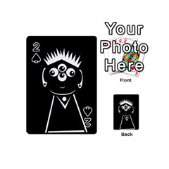 Black and white voodoo man Playing Cards 54 (Mini)