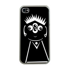 Black and white voodoo man Apple iPhone 4 Case (Clear)