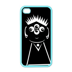 Black and white voodoo man Apple iPhone 4 Case (Color)