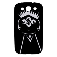 Black and white voodoo man Samsung Galaxy S III Hardshell Case