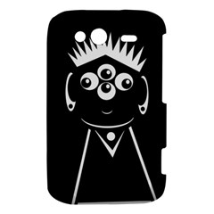 Black and white voodoo man HTC Wildfire S A510e Hardshell Case