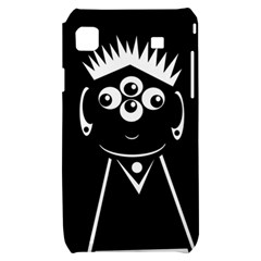 Black and white voodoo man Samsung Galaxy S i9000 Hardshell Case