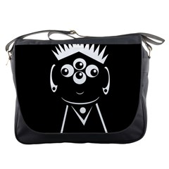 Black and white voodoo man Messenger Bags