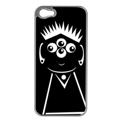 Black and white voodoo man Apple iPhone 5 Case (Silver)