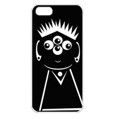 Black and white voodoo man Apple iPhone 5 Seamless Case (White)