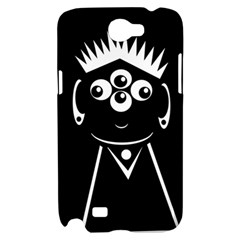 Black and white voodoo man Samsung Galaxy Note 2 Hardshell Case