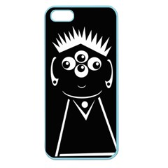 Black and white voodoo man Apple Seamless iPhone 5 Case (Color)