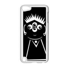 Black and white voodoo man Apple iPod Touch 5 Case (White)