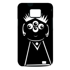Black and white voodoo man Samsung Galaxy S II i9100 Hardshell Case (PC+Silicone)