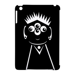 Black and white voodoo man Apple iPad Mini Hardshell Case (Compatible with Smart Cover)