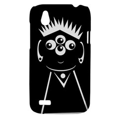Black and white voodoo man HTC Desire V (T328W) Hardshell Case