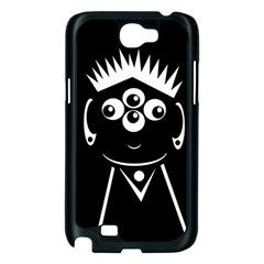 Black and white voodoo man Samsung Galaxy Note 2 Case (Black)