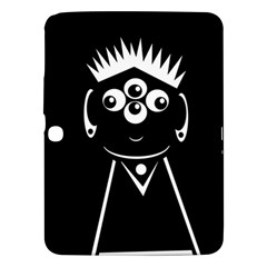 Black and white voodoo man Samsung Galaxy Tab 3 (10.1 ) P5200 Hardshell Case