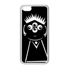 Black and white voodoo man Apple iPhone 5C Seamless Case (White)