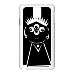 Black and white voodoo man Samsung Galaxy Note 3 N9005 Case (White)