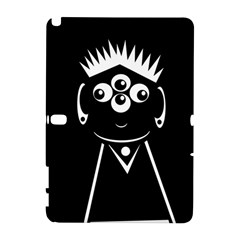 Black and white voodoo man Samsung Galaxy Note 10.1 (P600) Hardshell Case