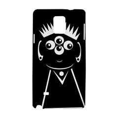 Black and white voodoo man Samsung Galaxy Note 4 Hardshell Case