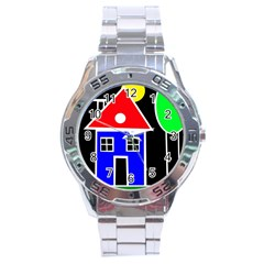 Kids drawing Stainless Steel Analogue Watch