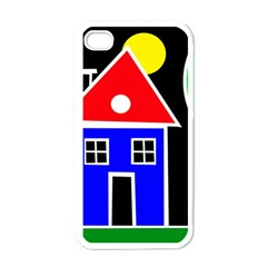 Kids drawing Apple iPhone 4 Case (White)