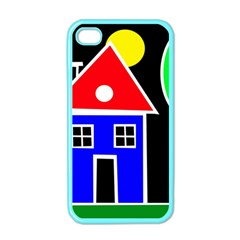 Kids drawing Apple iPhone 4 Case (Color)