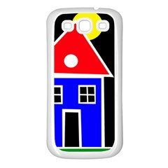 Kids drawing Samsung Galaxy S3 Back Case (White)