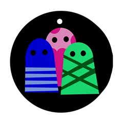 Three monsters Ornament (Round)