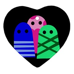 Three monsters Ornament (Heart)