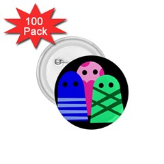 Three monsters 1.75  Buttons (100 pack)