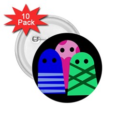 Three monsters 2.25  Buttons (10 pack)