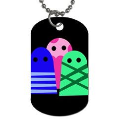Three monsters Dog Tag (Two Sides)