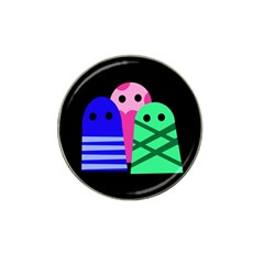 Three monsters Hat Clip Ball Marker