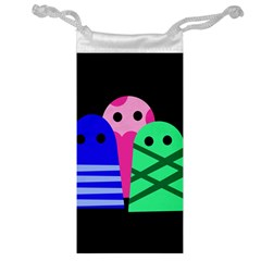 Three monsters Jewelry Bags