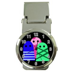 Three monsters Money Clip Watches