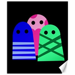 Three monsters Canvas 8  x 10