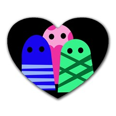 Three monsters Heart Mousepads