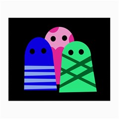 Three monsters Small Glasses Cloth (2-Side)
