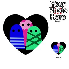 Three monsters Multi-purpose Cards (Heart)
