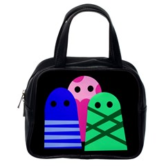 Three monsters Classic Handbags (One Side)