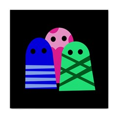 Three monsters Face Towel