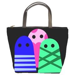 Three monsters Bucket Bags